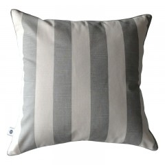 Poduszka Stripe Nature Grey by Hamptons and more CO.