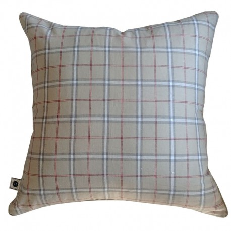 Poduszka Linen Checkered by Hamptons and more CO.