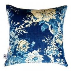 Poduszka New Hampton Flowers Indigo Blue