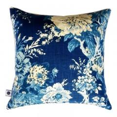 Poduszka New Hamptons Flowers Indigo Blue