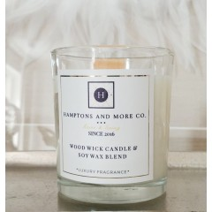 Świeca Wood Wick Candle White Flowers, Sandalwood & Vanilla Essence