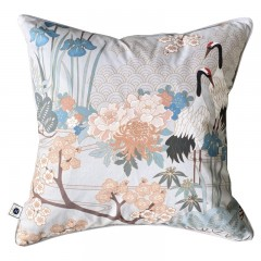 Poduszka New Hamptons Chinoiserie Garden Gray